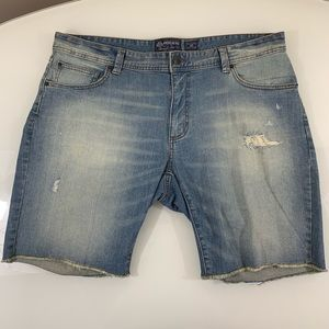 Distressed Jean Shorts Size 38